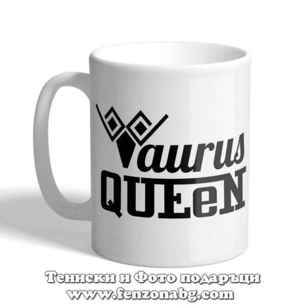 Чаша с дизайн зодия Телец - Queen Taurus