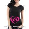 Дамска тениска с надпис Бебешки крачета – момиче
