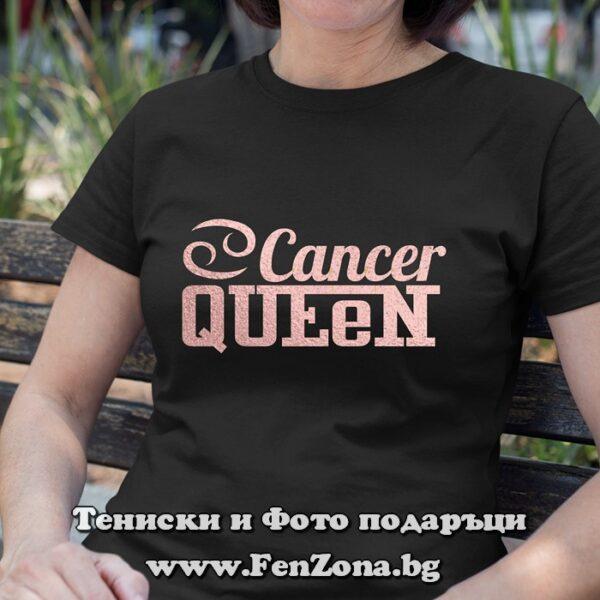 Дамска тениска с надпис – Cancer Queen