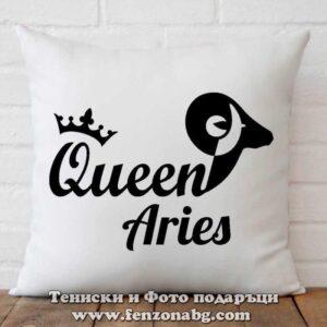 Възглавница с дизайн зодия Овен - Queen aries