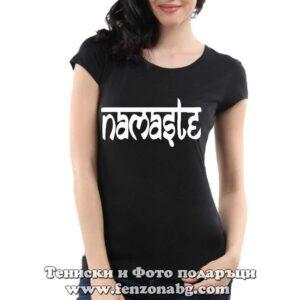 Дамска тениска с надпис Namaste