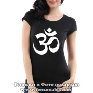 Дамска тениска с надпис Yoga