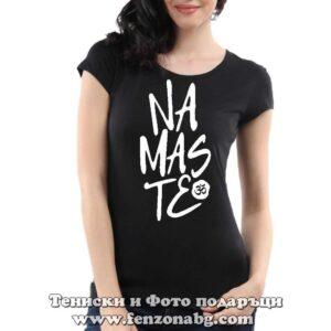 Дамска тениска с надпис Namaste 2