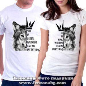 Тениски за двойки и влюбени – ВълциТениски за двойки и влюбени – Вълци