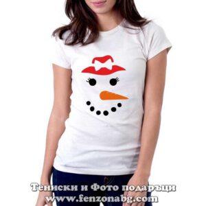 Дамска-тениска-снежен човек