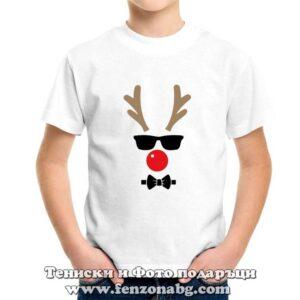Детска коледна тениска с елен