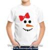 Детска коледан тениска със снежен човек за момиче