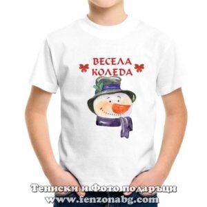 Детска тениска Весела Коледа