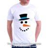 Мъжка коледна тениска със снежен човек