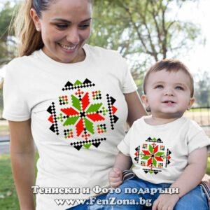 тениски с шевици за майка и син