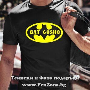 Мъжка тениска с надпис Bat Gosho