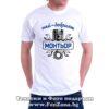 Тениска с надпис Най-добрият монтьор