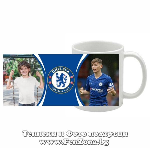 Футболна чаша Chelsea със снимка