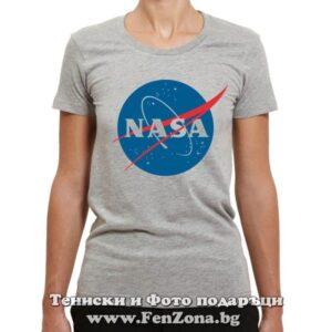 Дамска тениска с лого NASA 01