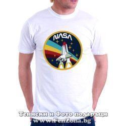 Мъжка тениска с лого NASA 02