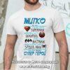 Мъжка тениска с надпис Митко ти си супер герой