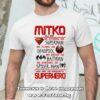 Мъжка тениска с надпис Mitko superhero