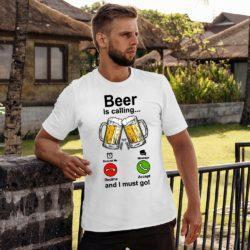 Мъжка тениска Beer is calling 03