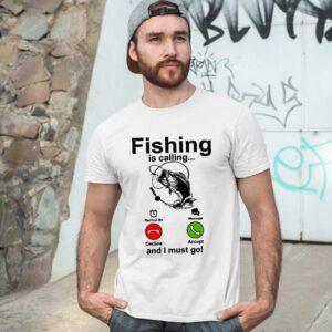 Мъжка тениска Fishing is calling 01