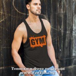 Фитнес потник с надпис GYM