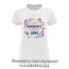Дамска тениска с надпис Принцесите се казват Дима