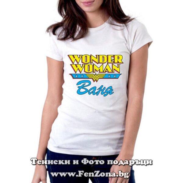 Дамска тениска с щампа Wonder woman Vaniya