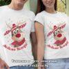 Коледни тениски с надпис Любима Коледа и елен