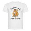 Мъжка тениска с надпис За риболов и любов Драго е винаги готов