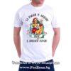 Мъжка тениска с щампа За ракия и любов Иван е винаги готов