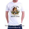 Мъжка тениска с щампа За лов и любов Иван е винаги готов