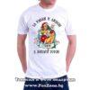 Мъжка тениска с надпис За ракия и любов Стефан е винаги готов