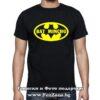 Мъжка тениска с надпис Bat Mincho