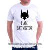 Мъжка тениска с надпис I am Bat Viktor