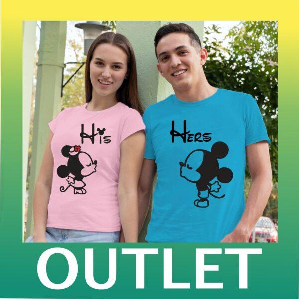 OUTLET тениски за двойки - His / Hers