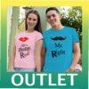 OUTLET тениски за двойки - Mr right / Mrs always right