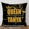 Декоративна възглавница с надпис Queen Tanya