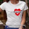 Дамска тениска с надпис Мама - целувка