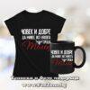 Комплект за зодия Телец - тениска и чаша - Човек и добре да живее среща Телец