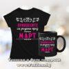 Комплект черна тениска и чаша Принцесите са родени през март 02