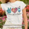 Дамска тениска с надпис Peace Love Summer 02