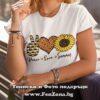 Дамска тениска с надпис Peace Love Summer