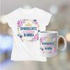 Комплект тениска и чаша с надпис Принцесите се казват Илияна