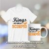 Комплект тениска и чаша - Kings are born as Scorpio