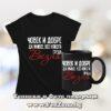 Комплект черна тениска и чаша - Човек все някога среща Везна